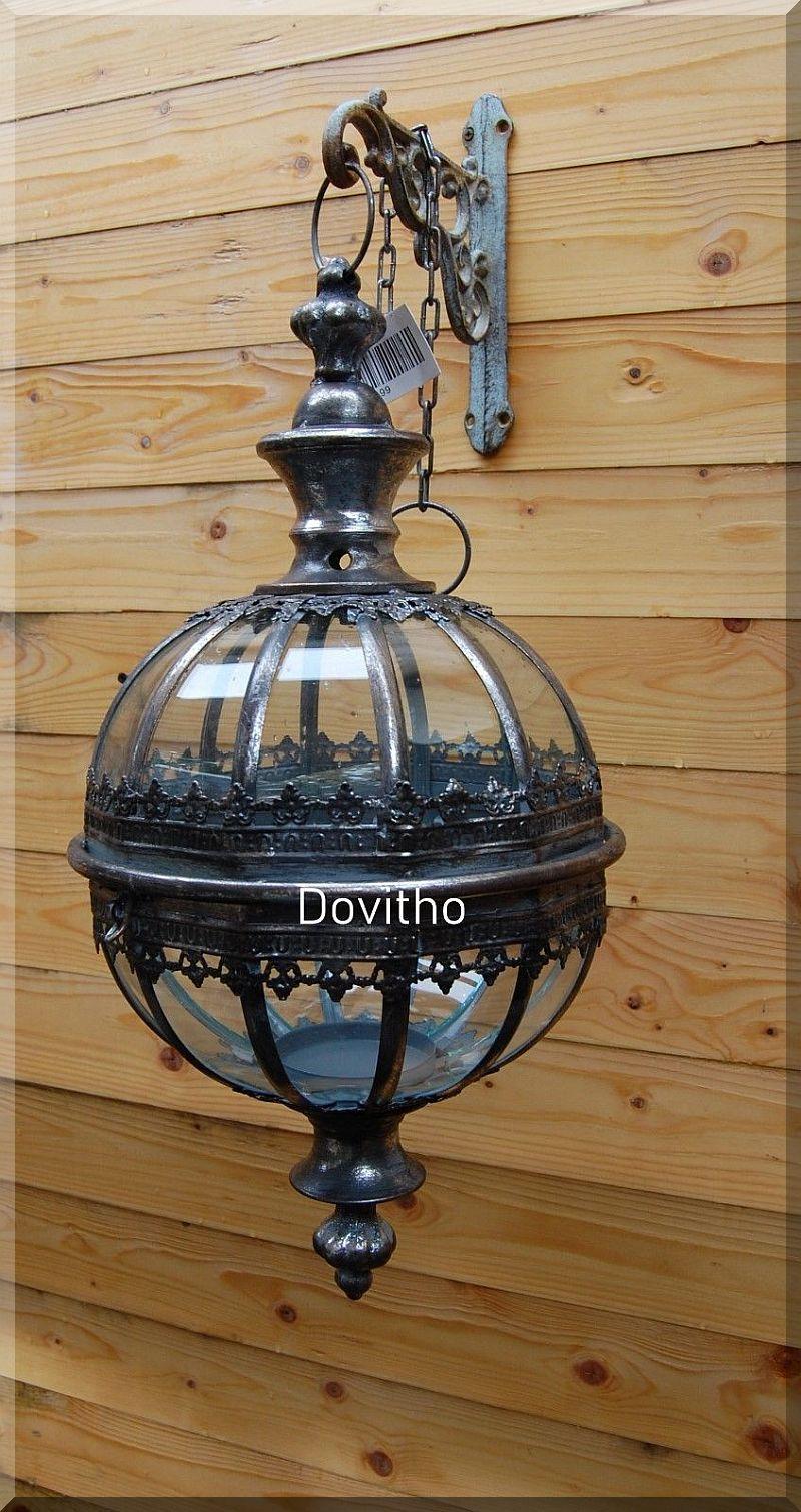 EISEN LATERNE WINDLICHT ANTIK STIL METALL HÄNGELATERNE LAMPE NEU 60 cm