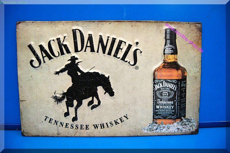 Wandschild Eisen Jack Daniels