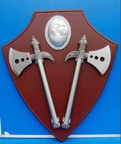 Kampfaxt in Silber