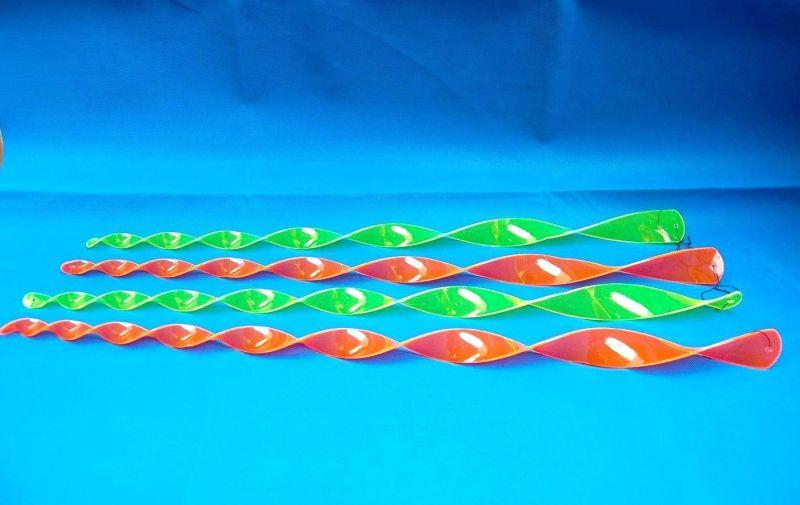 WINDSPIEL TWISTER BUNT 70 cm, Windspiel, Windspirale, Deko in Neon Gelb o. Pink