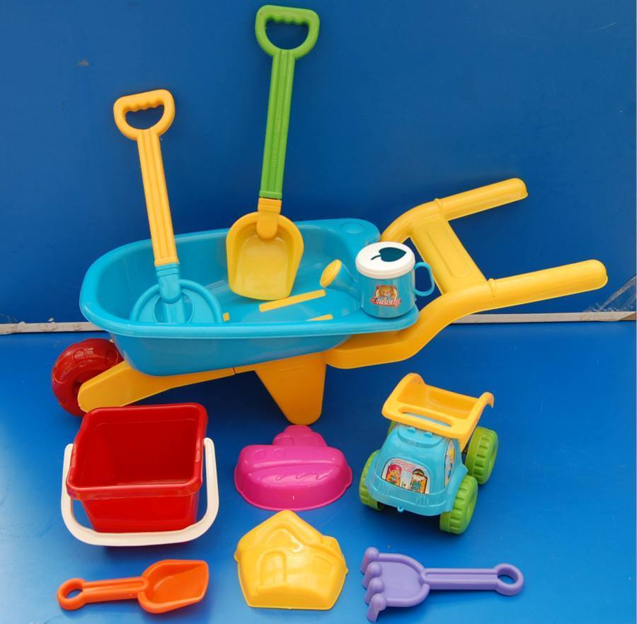 Kinderspielzeug Kinder Schubkarren-Set 10 tlg.