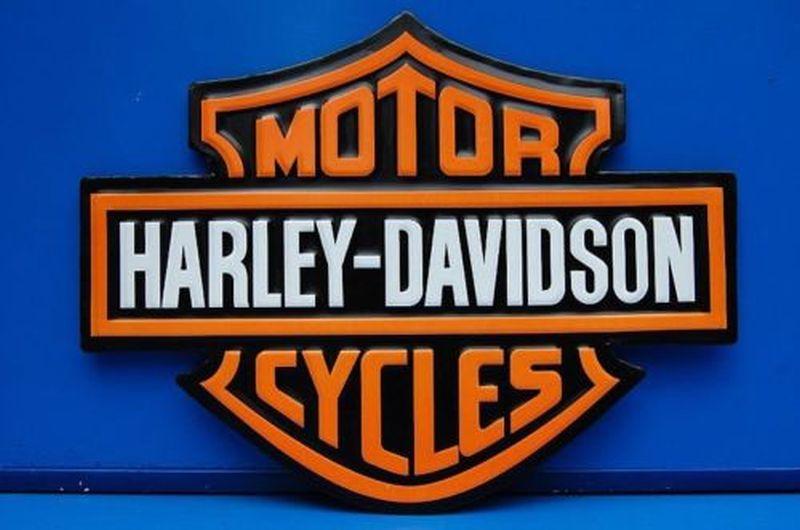 Wand Schild Retro Blechschild Harley-Davidson - MOTOR CYCLES 40 x 30 cm