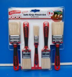 Soft-Grip Pinsel-Set, 5 Teilig, für alle Lacke