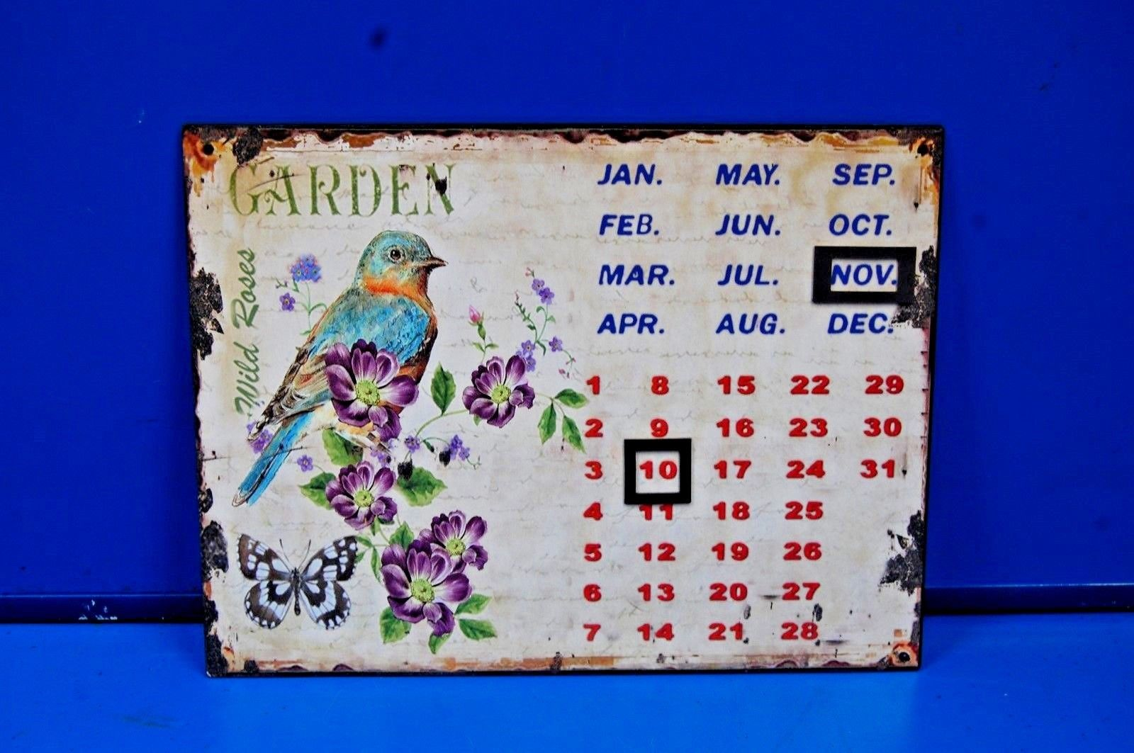 Blech Schild Retro Blechschild Unendlicher Kalender Blechschild 25 x 33 cm,