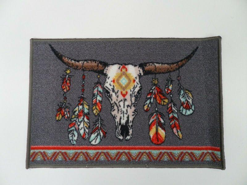 Deko-Teppich, Wand Teppich Büffel Kopf 40 x 60 cm