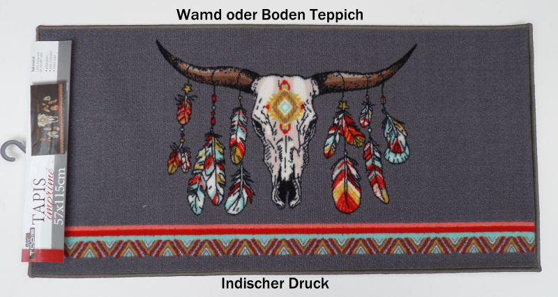 Deko-Teppich, Wand Teppich Büffel Kopf 57 x 115 cm