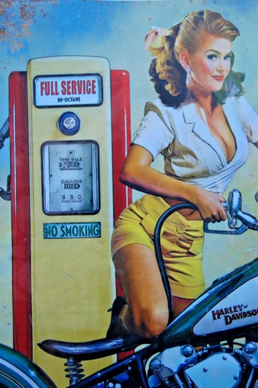 Blech Schild Retro Blechschild Harley-Davidson - Garage Blechschild 25 x 33 cm